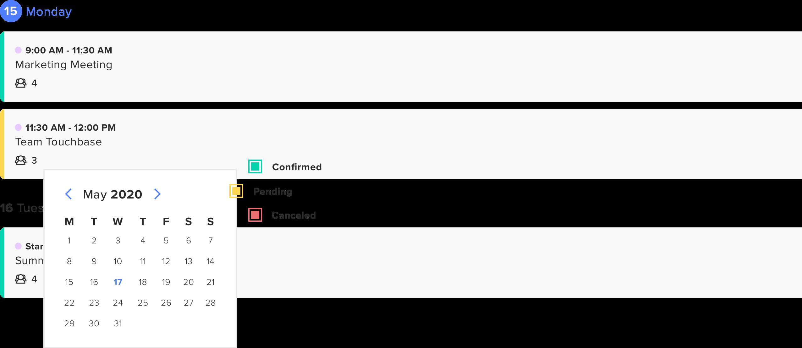 Checkin On Scheduling Status