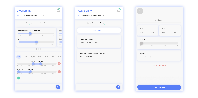 Sidekick Ai scheduling mobile app