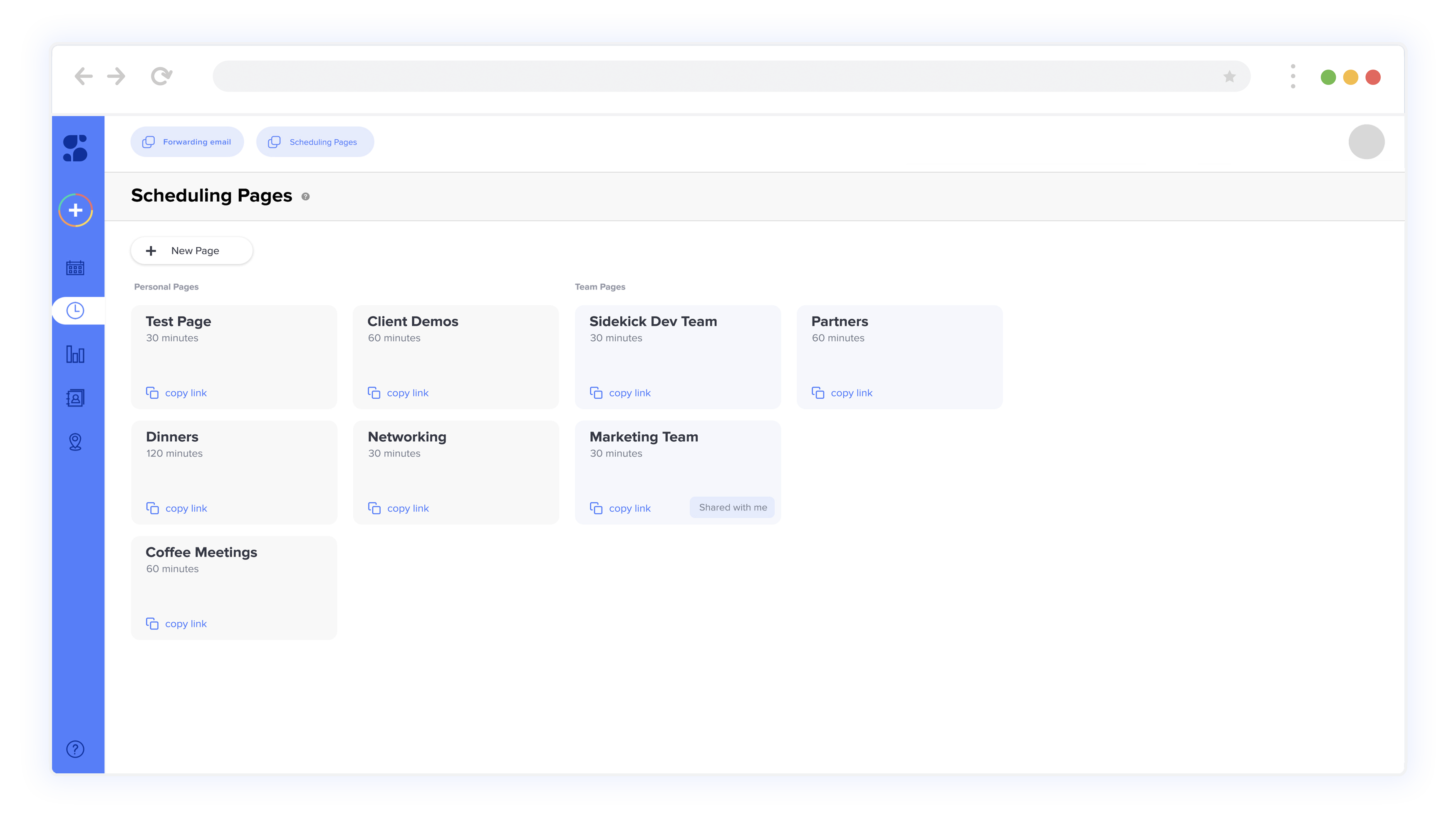 Scheduling Pages Sidekick Ai Admin Dashboard